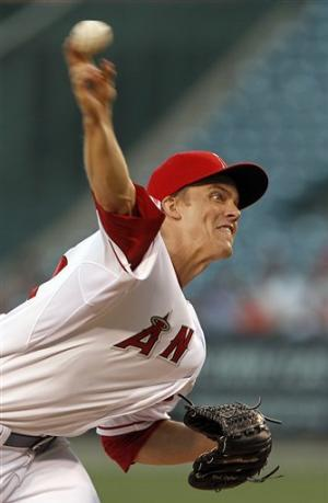 Greinke gets 1st win for Angels, 9-6 over Tribe