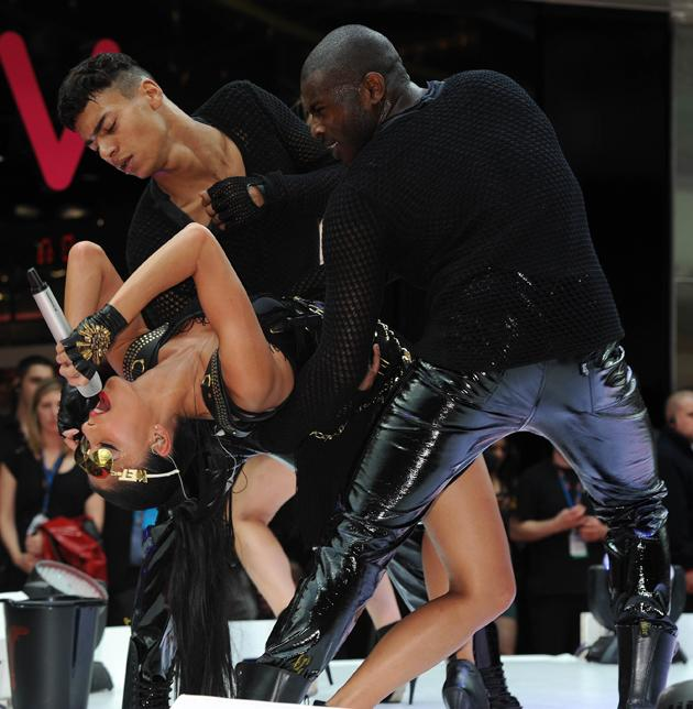 Nicole Scherzinger put on a racy performance at the launch of Westfield Stratford City.