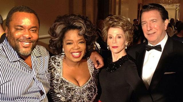 Fonda & Rickman Channel Reagans with Oprah