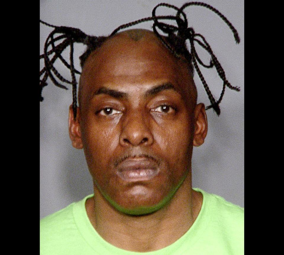 This image provided by the Las Vegas Police Department shows the rapper Coolio, who was arrested Friday March 9, 2012, in Las Vegas on a warrant charging him with failure to appear in a local court on a traffic ticket almost two years ago.(AP Photo/LVMPD)