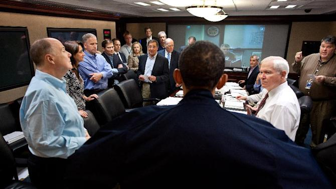 """FILE – In this May 1, 2011, file photo released by the White House, President Barack Obama talks with members of the his national security team in the White House Situation Room during one in a series of meetings to discuss the mission against Osama bin Laden. As the world now knows well Obama ultimately decided to launch the raid on the Abbottabad compound that killed bin Laden and 21 others though faced with a level of widespread skepticism from a veteran intelligence analyst, skepticism shared with other top-level officials, which nearly scuttled the raid. That process reflected a sea change within the U.S. spy community, one that embraces debate to avoid """"slam-dunk"""" intelligence in tough national security decisions. (AP Photo/The White House, Pete Souza, File)"""