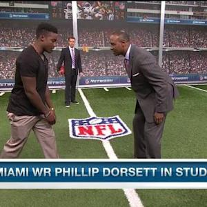 Miami wide receiver Phillip Dorsett on his wide receiver rank: I'm up there with the best in the draft
