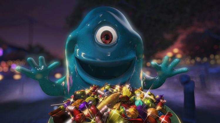 "B.O.B. (voiced by Seth Rogen) in ""Monsters Vs. Aliens: Mutant Pumpkins From Outer Space."""