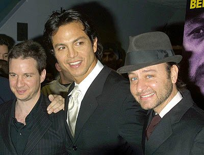 John Penotti , Benjamin Bratt and Fisher Stevens at the New York premiere of Miramax's Pinero