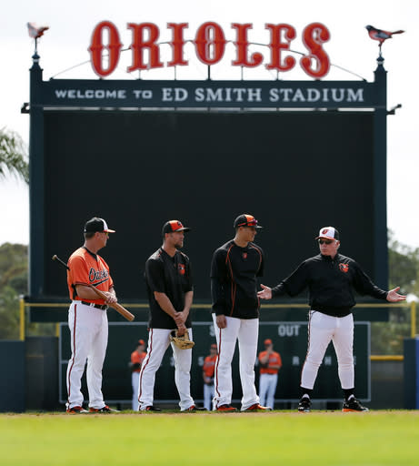 Orioles open spring schedule Tuesday without some regulars
