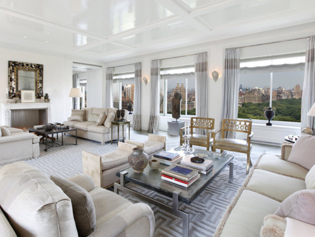 $50 million two-bedroom apartment at Central Park Ritz-Carlton living room