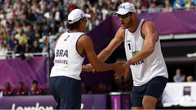 Germans face Brazilians in men's Olympic beach volley final