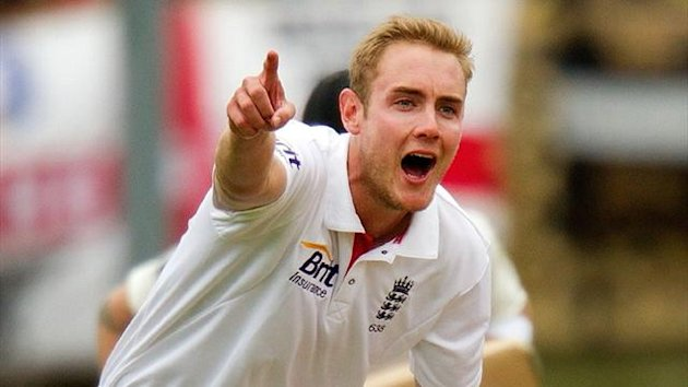 Stuart Broad takes a wicket for England in New Zealand (AFP)