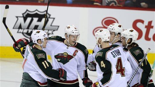 Pominville scores twice to lead Wild past Flames