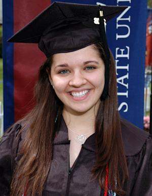 FILE - This undated file photo provided to The Associated Press by Eastern Connecticut University shows Sandy Hook Elementary School teacher Victoria Soto. Soto, 27, was killed on Friday, Dec. 14, 2012, when a gunman walked into the school in Newtown, Conn., and opened fire, killing 26 people, including 20 children. Stratford, Conn., Mayor John Harkins is proposing to name a school for Soto. Soto was a Stratford resident. Construction is set to begin on the new school this summer. (AP Photo/Eastern Connecticut University, File)