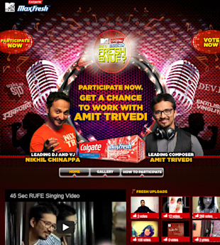 Colgate MaxFresh & MTV Hunt For Fresh Talent Through 'R U Fresh Enuf?' image MTV colgate R u fresh enough