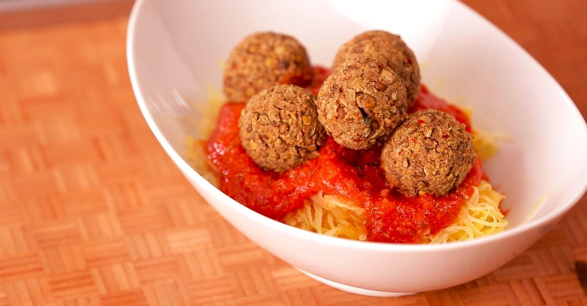 Watch: How to Make Gluten Free Lentil Meatballs