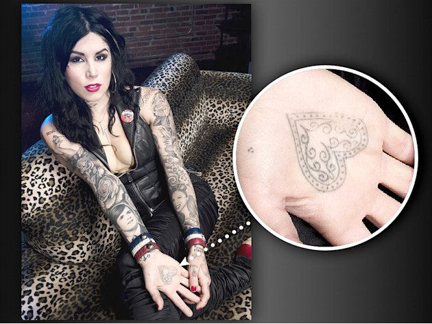 Kat Von D's tattoo Heart