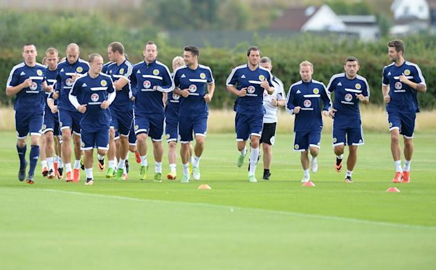 Soccer - Vauxhall International Friendly - England v Scotland - Scotland Training Session - Watford Academy
