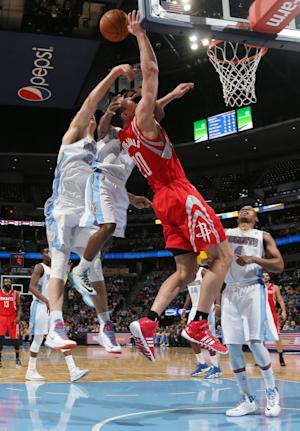 Foye leads Nuggets past Rockets, 123-116