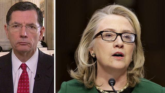 Sen. Barrasso speaks out about questioning Sec. Clinton