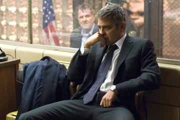 Tom Wilkinson and George Clooney in Warner Bros. Pictures' Michael Clayton