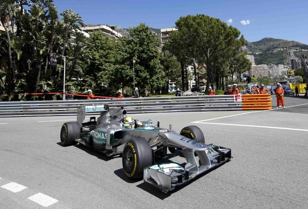 Mercedes AMG Petronas Formula One driver Nico Rosberg of Germany drives during the first practice session of the Monaco F1 Grand Prix