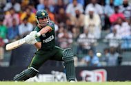 Pakistan batsman Kamran Akmal plays a shot during a World Twenty20 warm-up match between India and Pakistan at the R. Premadasa stadium in Colombo. Akmal smashed an unbeaten 92 off 50 balls as Pakistan came from behind to defeat India by five wickets in a warm-up match for the World Twenty20
