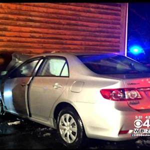 Woman Crashes Into A Home While Texting And Driving