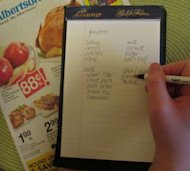 A grocery list can help you save money, plan a budget, and eliminate impulse shopping