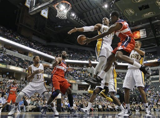 Granger, Hibbert lead Pacers past Wizards, 93-89