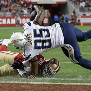 San Diego Chargers tight end Antonio Gates grabs second touchdown