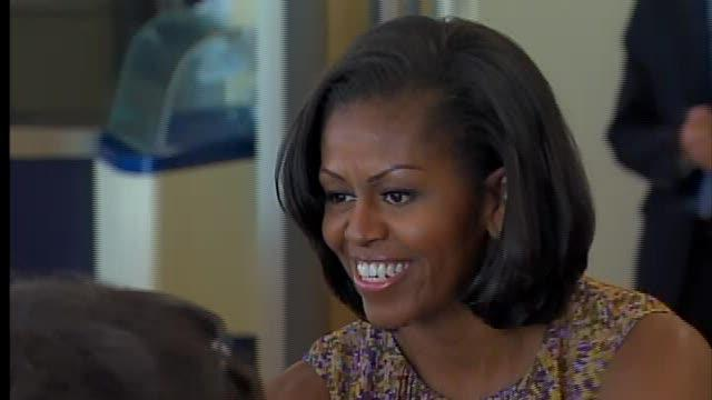 Michelle Obama at Progressive Field