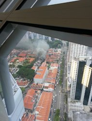 Full picture of Aliwal Street fire (Photo from @eshangar via Twitter)
