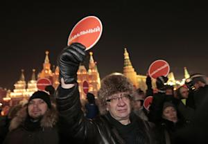 Supporters of Russian opposition activist and anti-corruption…