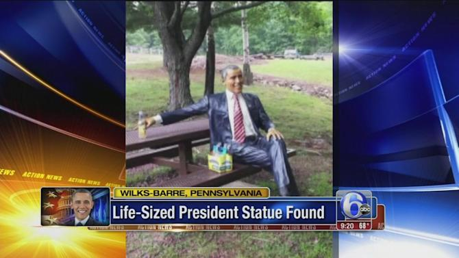Pa. woman gets stolen life-size Obama statue back