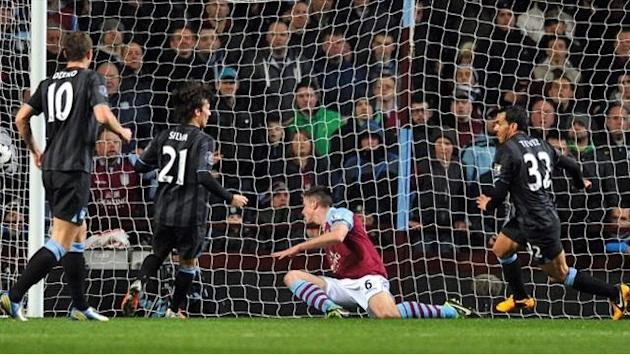 Premier League - Aston Villa-Manchester City: Dzeko fue suficiente (0-1)