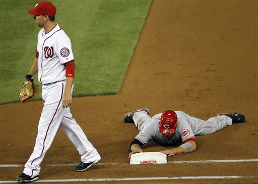 Werth's hit in 13th gives Nats 2-1 win over Reds