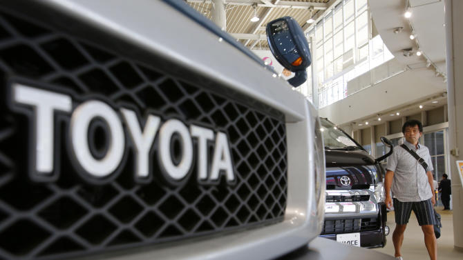 Toyota profit up nearly 5 percent on sales growth