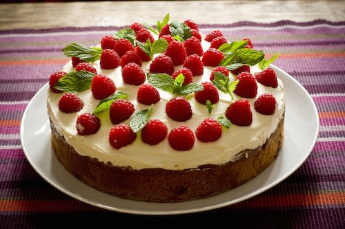 Garnish cakes and other desserts