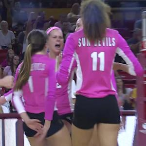 No. 6 Arizona State women's volleyball stays perfect with win over No. 8 Stanford