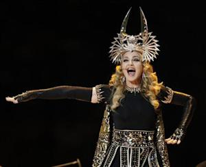 Singer Madonna performs during the halftime show at the NFL Super Bowl XLVI football game between the New York Giants and the New England Patriots in Indianapolis