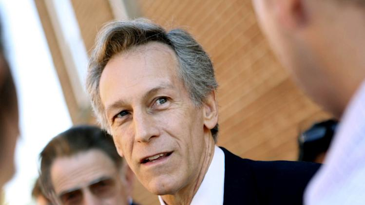 FILE - In this Nov. 7, 2008 file photo, former Va. Rep. Virgil Goode speaks to reporters in Rocky Mount, Va. Goode will appear on Virginia's presidential ballot after state election officials rejected a Republican-led bid to keep him from draining votes from Mitt Romney in a swing state where polls show a deadlocked race. The State Board of Elections acted Tuesday after the state GOP called Goode's qualifying petitions and signatures into question and sought an independent review.  (AP Photo/The Roanoke Times, Sam Dean, File)
