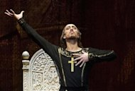 "Bolshoi Theatre ballet dancer Pavel Dmitrichenko performs during the media preview of ""Ivan The Terrible"" ballet at the Bolshoi Theatre in Moscow, in this picture taken November 4, 2012. REUTERS/Anton Tarasov"