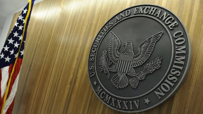 The seal of the SEC at their headquarters in Washington