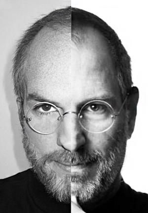 Ashton Kutcher Shares Eerie Self-Portrait as Aging Steve Jobs