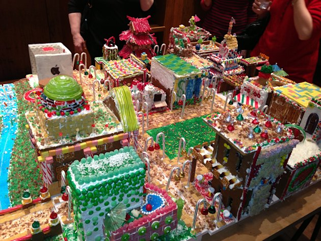 College Campus Made Completely of Gingerbread