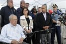 Boston Mayor Menino speaks from his wheelchair during a news conference in Watertown