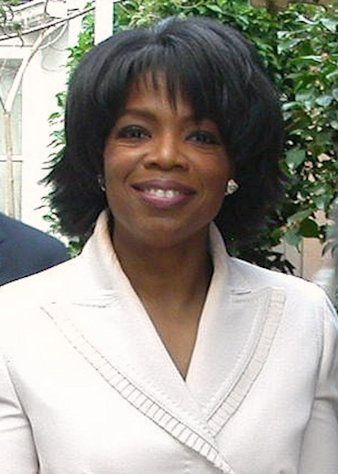 Oprah Winfrey at her 50th birthday party at Hotel Bel Air