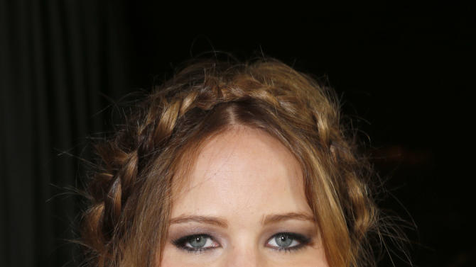 Jennifer Lawrence attends the LA Film Critics Association Awards at the InterContinental Hotel on Saturday, Jan. 12, 2013, in Los Angeles. (Photo by Todd Williamson/Invision/AP)