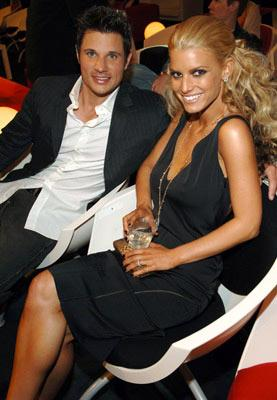 Nick Lachey and Jessica Simpson MTV Movie Awards 2005 - Backstage Los Angeles, CA - 6/4/05