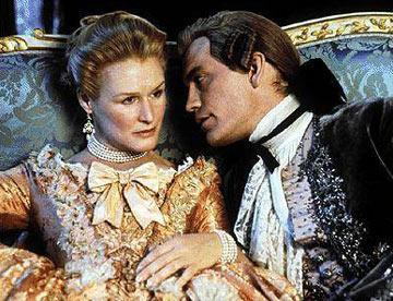 Glenn Close and John Malkovich in Warner Bros. Pictures' Dangerous Liaisons