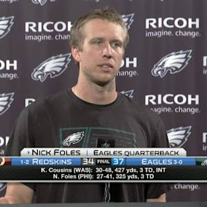 Philadelphia Eagles quarterback Nick Foles: 'I'm really proud of my teammates'