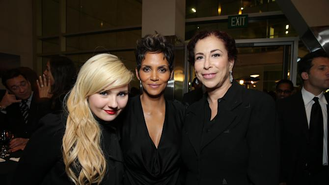 Abigail Breslin, Halle Berry and Roma Maffia at TriStar Pictures World Premiere of 'The Call', held at the ArcLight Hollywood on Tuesday, Mar. 5, 2013 in Los Angeles. (Photo by Eric Charbonneau/Invision for Screen Gems/AP Images)