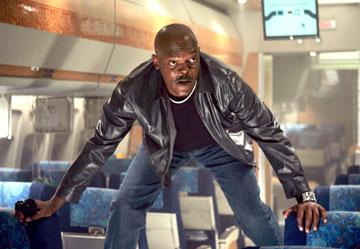 Samuel L. Jackson in New Line Cinema's Snakes on a Plane
